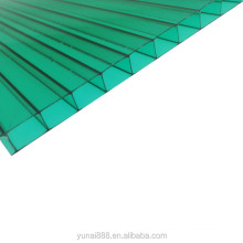 4mm 6mm 8mm uv protection transparent blue brown  hollow polycarbonate plastic roofing sheet  for greenhouse