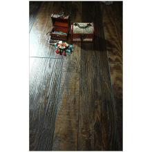Plancher de stratifié tressé par hickory gratté par main de 12,3mm