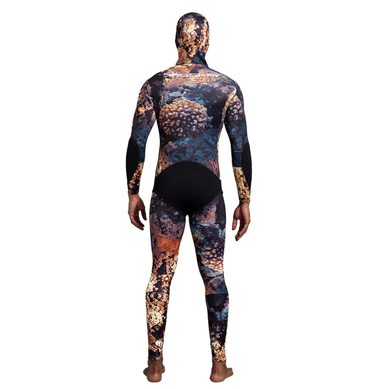 Dw014 Seaskin Two Pieces Camo Wetsuit 14 1