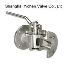 Стандарт ANSI 300lb шарикового Выровнянный PTFE рукав конического клапана