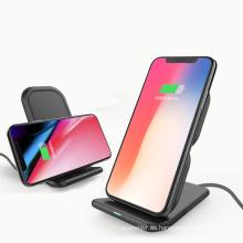 2018 el cargador inalámbrico de carga rápida más nuevo del soporte móvil de la exhibición del teléfono móvil para el iPhone 8 smartphones de Samsung S8