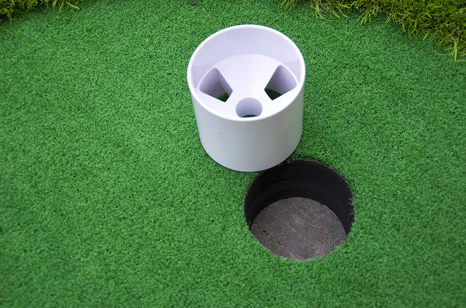 golf putting green 10cm height hole