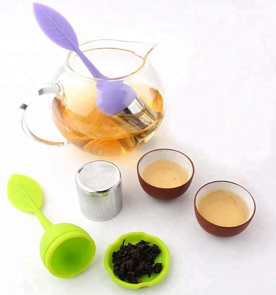 Silicone Handle Tea Infuser Stainless Steel Strainer 1