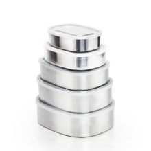 High Quality 900/1100/1300 ml Freshness Container Rectangular Metal Food Storage Container stainless steel Bento box
