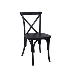 Black Color Country Style Cross Back Dining Chair