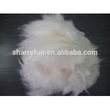 Высокое качество коммерческого ангорский кролик волос белый 14.5-15.0 микрофон/32мм