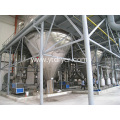 Centrifuge spray dryer of uric acid resin