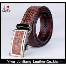 Designer Belt Men Without Holes Cinto de couro de crocodilo de fivela automática
