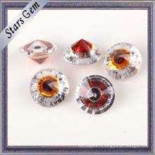 Мода круглый Красный гранат и белый драгоценных камней для ювелирных украшений