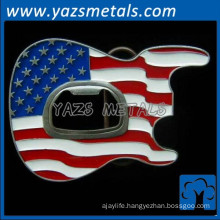 guitar enamel us flag metal bottle opener