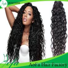 Cabelo 5A / 6A / 7A / 8A brasileiro virgem do cabelo por atacado / extensão do cabelo humano de Remy