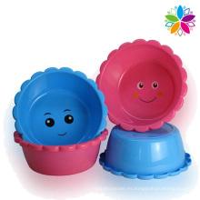 Sonrisa diseño creativo lavabo de plástico (SLP038)