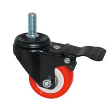 Light Duty Type Little Kingkong Red PU Wheel Caster (Kxx5b)