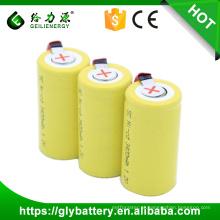 Bateria recarregável do SC 3400mAh do poder 1.2V com abas de solda