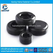 Enchufe de tubo de acero al carbono chapado en negro