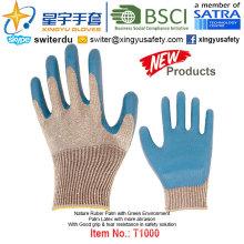 (Produits de brevet) Gants de revêtement en latex à base de vert T1000