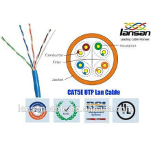 Well performance utp cable cat5e 4p 26awg approved by UL