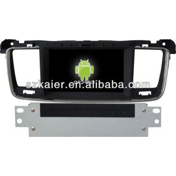 Lecteur DVD de voiture pour Android système Peugeot 508