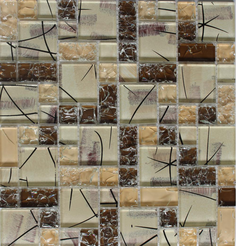 Mixed Size Cracked Glass Mosaic