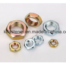 Meias porcas hexagonais de aço DIN439