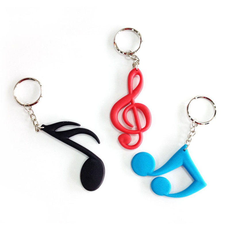 Lehope Music Note Keychain Ring