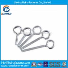 Zinc plated carbon steel eye screw with machine thread