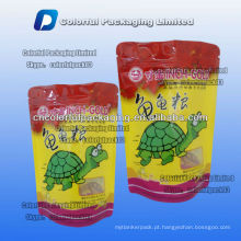 100g pet food stand up zip lock saco de embalagem para tartaruga com janela / zíper stand up pouches para alimentos tartaruga