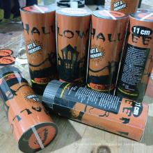 Nouveauté Halloween Popper Spring Party avec confettis papier Orange et noir