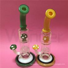 Pilz Design Glas Wasserpfeife zum Rauchen