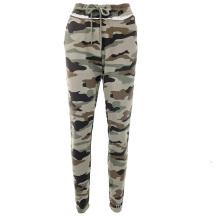 High Quality Custom High Waist Camouflage Print Trousers Bottoms Jogger Pants Women