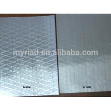 Metallisierte Polyesterfolie / reflektierende Mylar, doppelseitige Folien-Scrim-Kraft-Verkleidung, Aluminiumfolie-Isoliermaterial