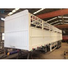 Remolque de paneles de carga de valla de transporte de animales de estaca