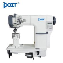 DT 592-DE industrial rolo de imprensa pé dupla agulha única máquina de costura de couro sapato lockstitch post cama