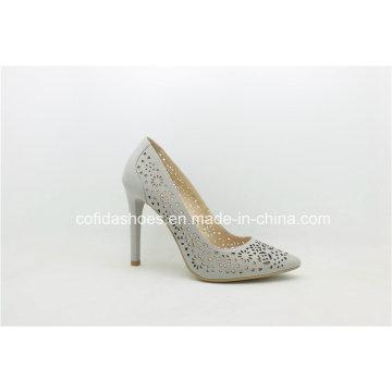 Elegante hecho a mano sexy tacones altos mujeres de cuero zapatos