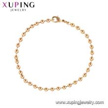 75185 Xuping bijoux de mode fabriqués en Chine en gros simple bracelet de perles d'or pour les femmes