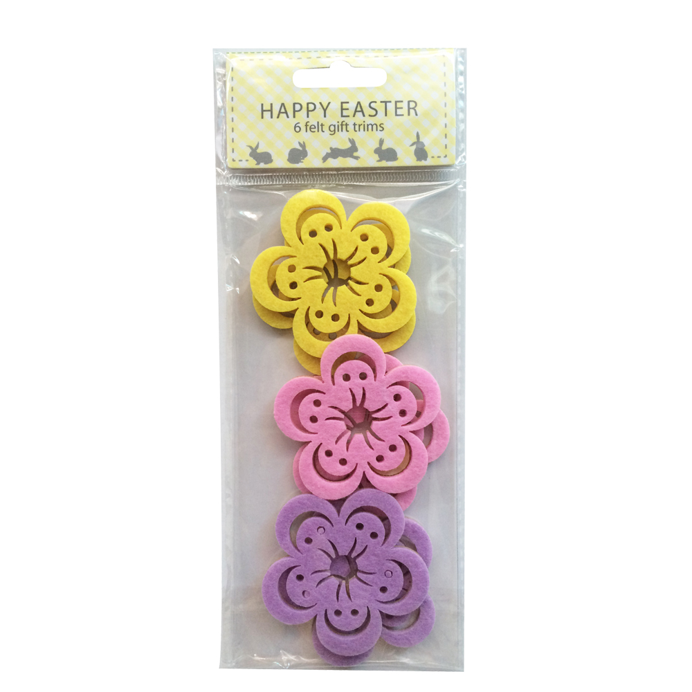 Easter Flower Shape Sticker