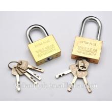 Yalian mejor precio de largo Shackle de oro plateado cuadrado de hierro candado