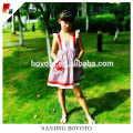 Wholesale Girl summer cotton red&white check dress