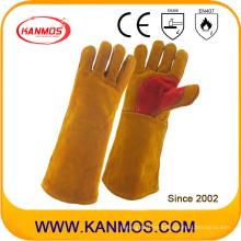 Industrial de mano de seguridad de cuero de vaca de cuero de corte de trabajo de soldadura guantes (11116)