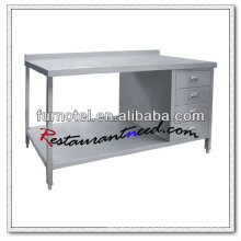 S024 Stainless Steel Work Cabinet With Under Shelf And Splash Back