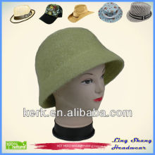 LSA51 Ningbo Lingshang Angora and wool for women fashion party fedora hat