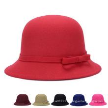 Леди Мода хлопок полиэстер трикотажные зимние ковш Hat (YKY3244)