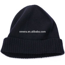 Inner Mongolia manufacturers custom pure wool knitted hat lady HWD0002 pure warm winter twist cap