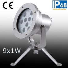 IP68 9W светодиодный подводный свет пятна, светодиодный подводный фонтан света