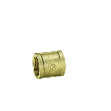 Equal Socket F/F (II) Brass Yellow Fittings