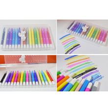 caja de plástico color sedoso creyón marcador