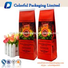 MATT café / chá embalagem suprimentos / café saco de plástico por atacado com válvula e estanho tie