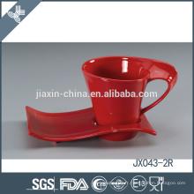 043-2R 180CC Tasse à café en céramique et soucoupe