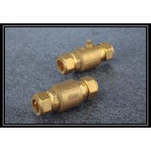 chromed brass check valve