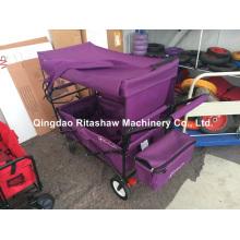Trolley plegable de cuatro ruedas con la tienda